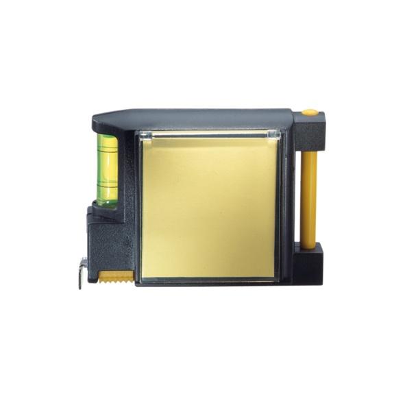 COD.LH020 Huincha de medir (metálica-rígida) de 3 mts. multifunción. Incluye lápiz pasta, post-it para apuntes, nivel y abrasadera para bolsillo o cinturón.