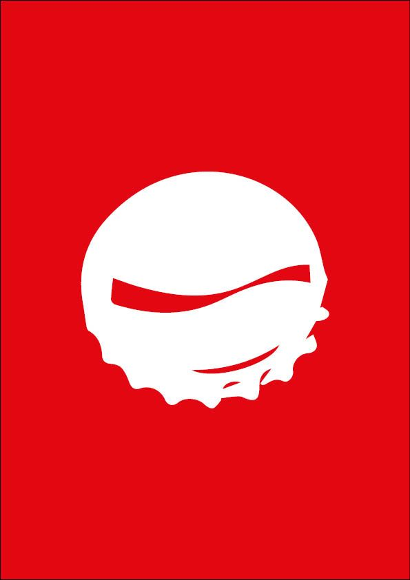 Illustration, affiche minimaliste. Marque : Coca Cola