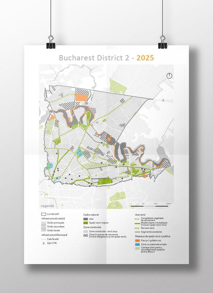 Green space system proposal for District 2 - Bucharest