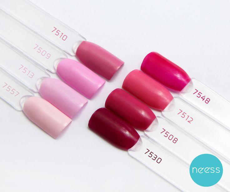Lakiery hybrydowe NEESS, odcienie różowe