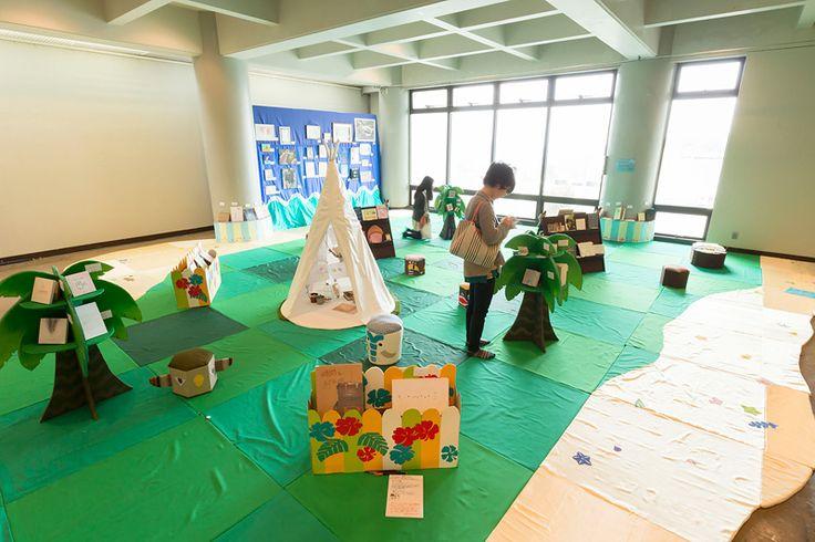 絵画東棟ギャラリーにて 絵本創作研究会による展示