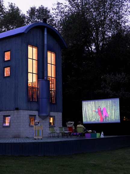 Great inspiration.  We're planning on summer screenings in our backyard this summer :-): Ideas, Outdoor Cinema, Dream, Outdoor Movies, Movie Night, Backyard Movie, House, Homes