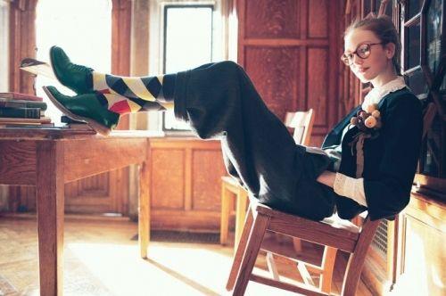 fashion, girl, glasses, library, nerd, school