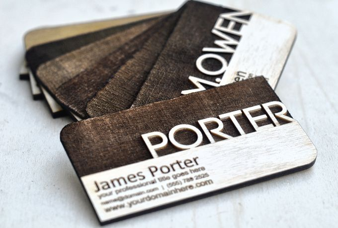 laser engrave a creative Business Card - fiverr