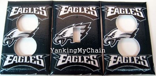 PHILADELPHIA EAGLES LIGHT SWITCH AND OUTLET COVER SET NFL FOOTBALL