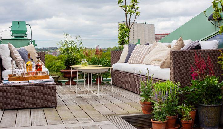 Bellissima terrazza sul tetto | Wrede #mansarda