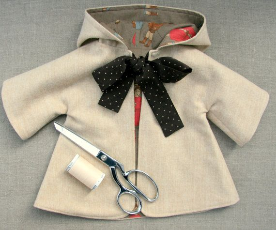 "$10.80 - Sewing Pattern and Tutorial for Hooded Coat for 18-20"" Doll"