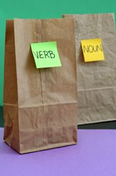 GRAMMAR GAME.could be edited for use for younger students or older students, for small group or whole group, or as an indy center. I love the way inexpensive items can become motivators and deviants from the routine of the school day! =)