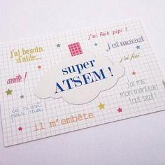 "Mini carte "" super atsem"""