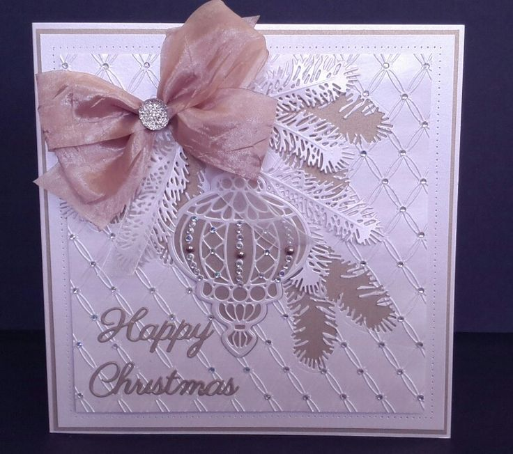 Card made using Sue Wilson Christmas dies