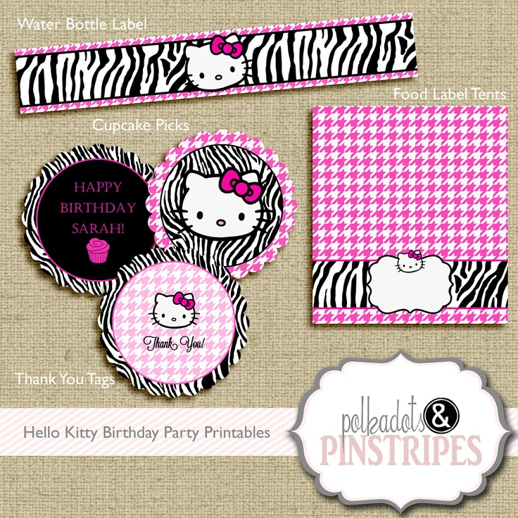 47 best Hello Kitty Birthday Party Ideas images – Hello Kitty Birthday Party Invitations Printable