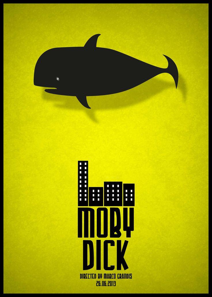 #marcograndis #illustration #moby dick #black #yellow #poster #comic #design
