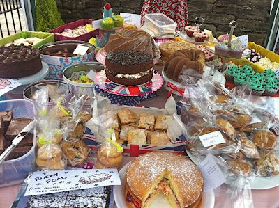 Display - A REAL cake stall from Horwich Summer Fete for babies (Photo by DollyBakes - Rachel  McGrath)