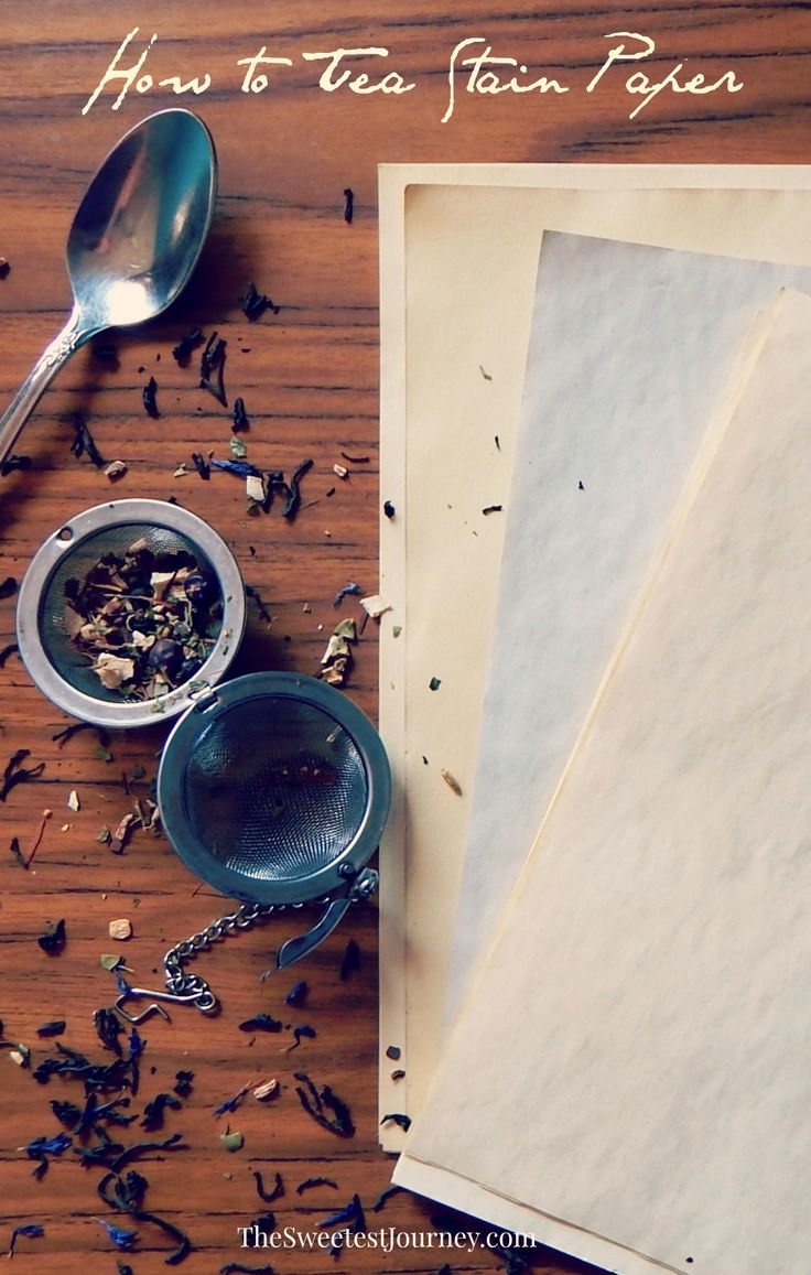 How to Tea Stain Paper | Aging Paper DIY