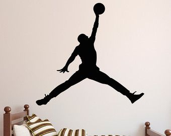 Michael Jordan Wall Decal Art Decor Sticker by VinylWallArtworks