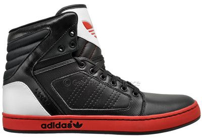 Adidas Originals Adi High EXT Mens High-Top Sneakers, Black/Red/White, New
