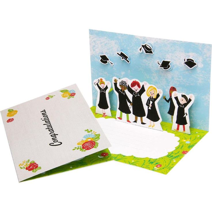 ポップアップカード (卒業),クラフトカード,カード,卒業式,花束,帽子,卒業,卒業証書,卒業帽,プレゼント