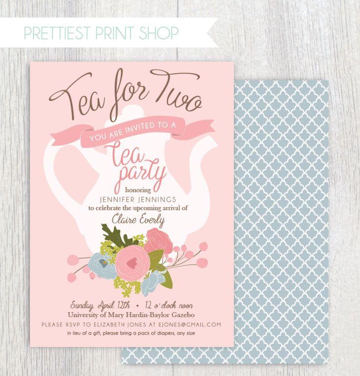 Tea Party Birthday Invitations Template