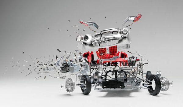 Prachtige fotos van exploderende klassieke autos