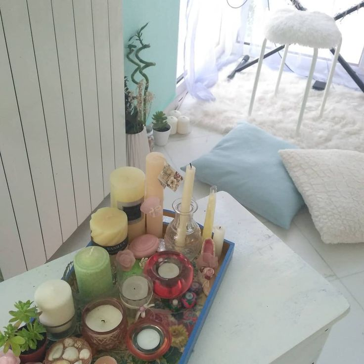 #photography #candles #succulents #flowers #decoration #instadecor #pillows #blue #color #beauty #bamboo #romantic #white