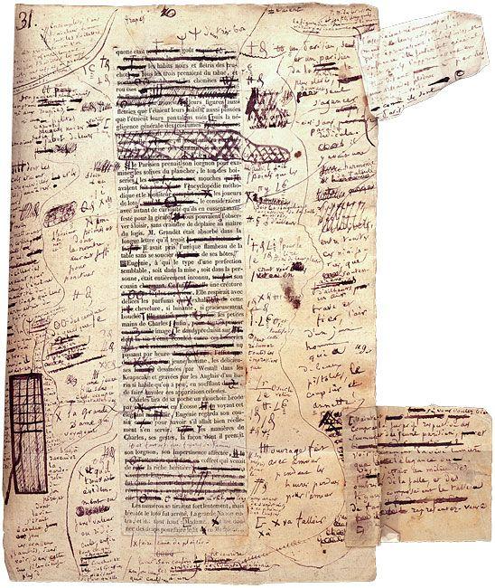 Revisão nos originais de Balzac: Eugénie Grandet – Autograph manuscript and corrected galley proofs signed (1833)