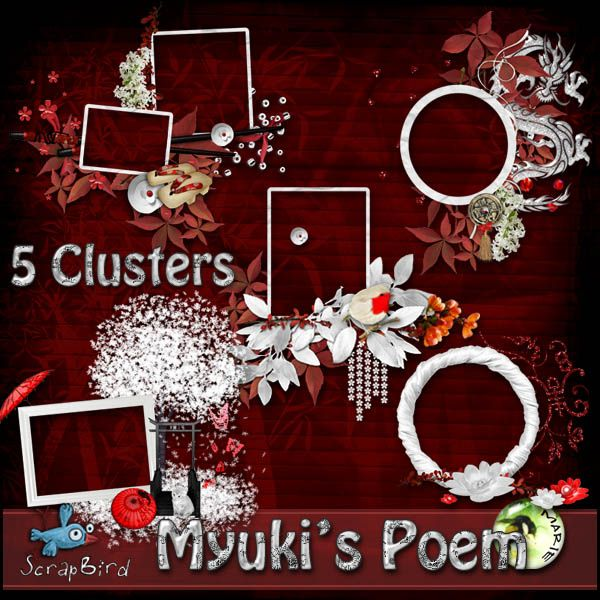 Miuky's Poem CLUSTERS by Marie