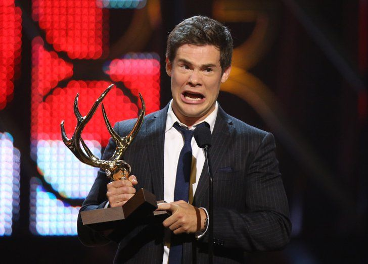 Pin for Later: 23 Times Adam DeVine Just Couldn't Keep a Straight Face When He Got Super Emotional About Getting an Award