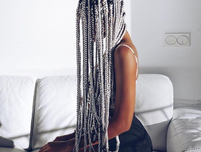 les 25 meilleures id es de la cat gorie tresses africaines sur pinterest coiffures. Black Bedroom Furniture Sets. Home Design Ideas
