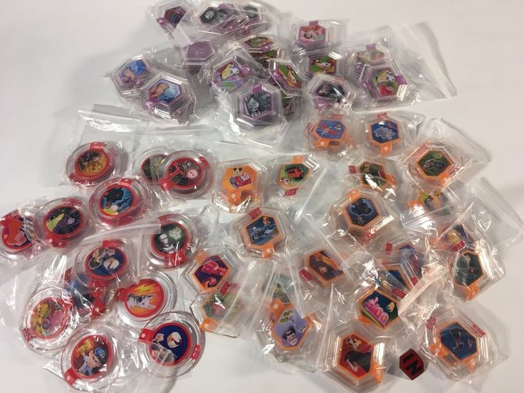 Disney Infinity 2.0 1.0 power disc lot 130 pieces Marvel Animation Pixar Disk #Disney