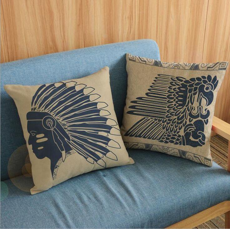 Funda Para Cojín Étnico Artesanal Indios Norte Americanos //Price: $15.94 & FREE Shipping //     #bohochicstyle