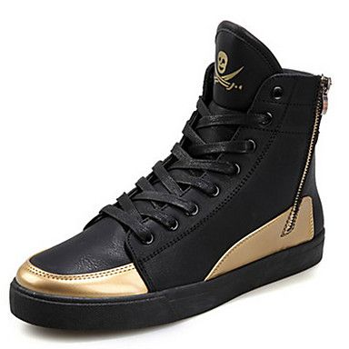 Men's Shoes Casual Faux Leather Mid-Calf Boots Boots White/Silver/Gold – USD $ 32.99
