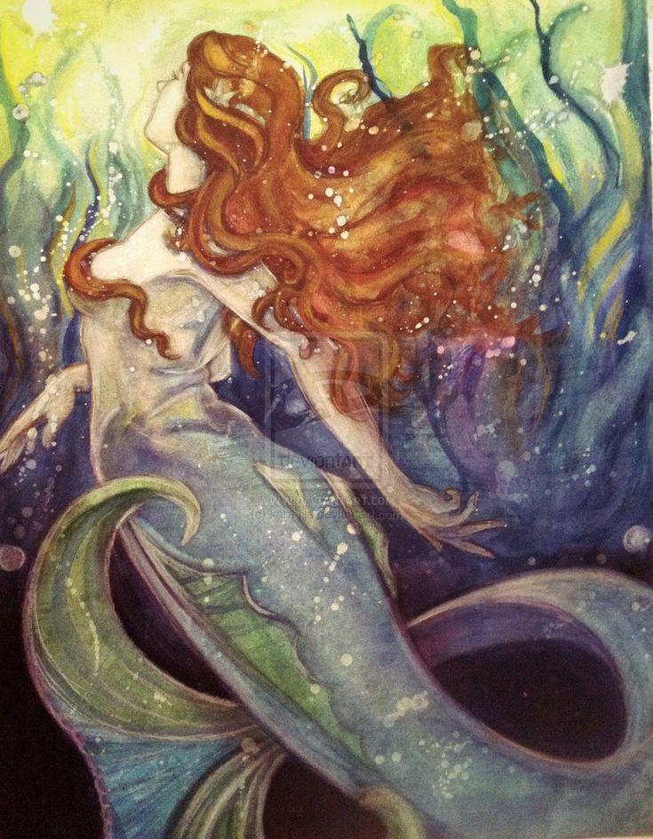 Vintage Mermaid by kara-lija.deviantart.com on @deviantART