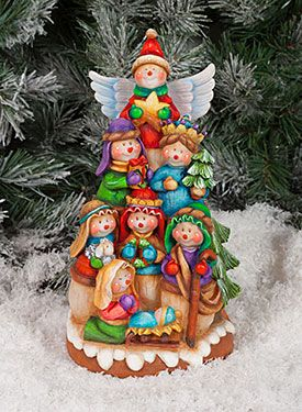 Snowman Nativity by Kay Quist, exclusive pattern and surface available at www.artistsclub.com