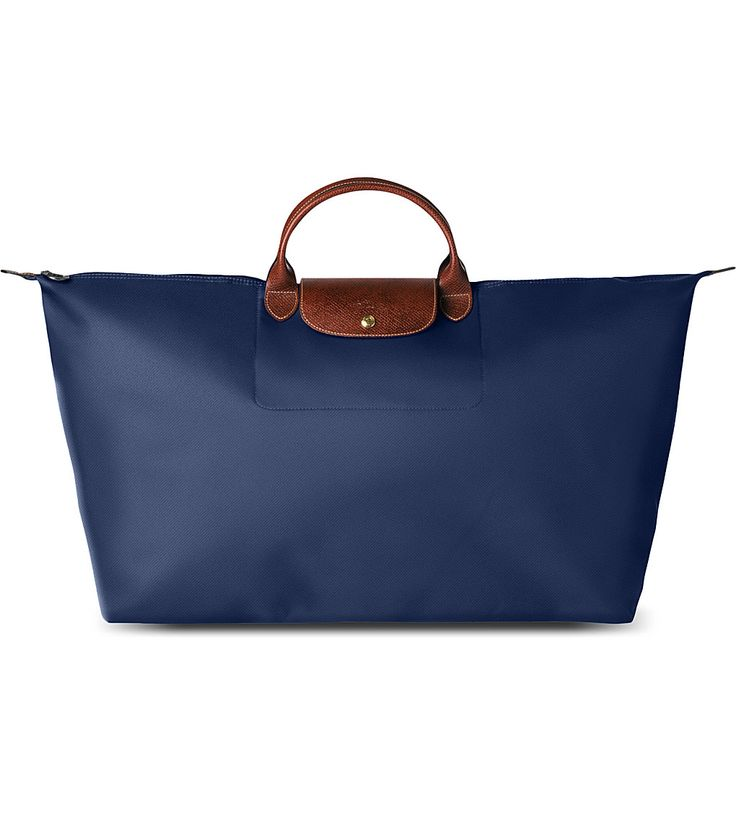 Classic: LONGCHAMP Le Pliage large travel bag in navy