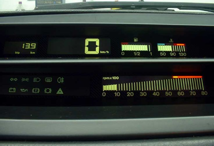 Fiat Tempra Dashboard - It looked like a kind of magic to me when I was kid :)
