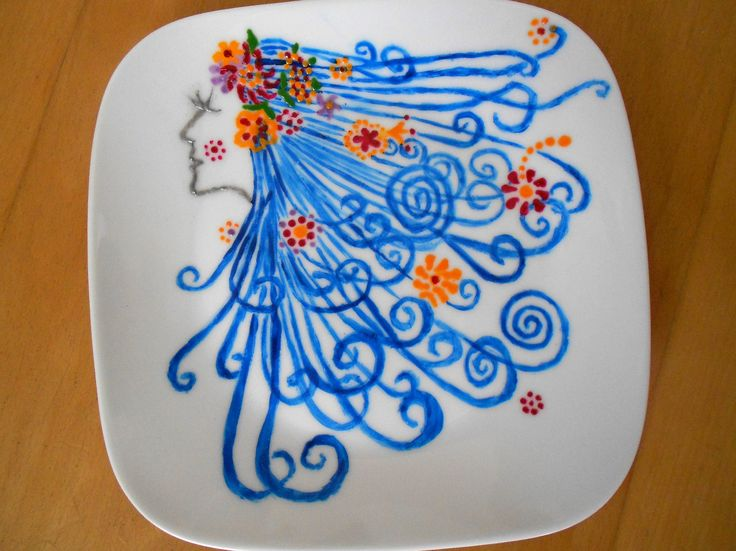Plate hand painted
