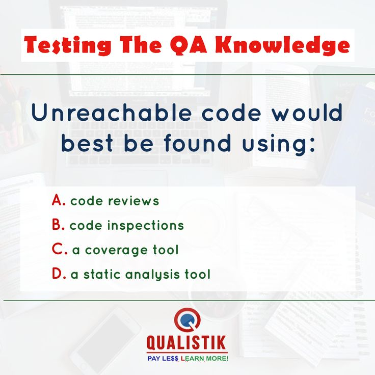 Testing Your QA Knowledge Let's take this simple quiz to evaluate your testing skills.