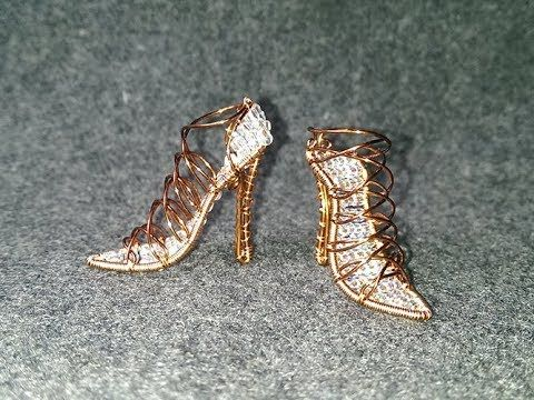 high heels shoes - How to make wire jewelery 255 - YouTube