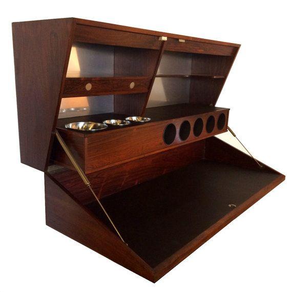 Dyrlund Rosewood Bar Cabinet Danish Modern By