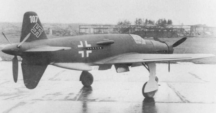 """The Dornier Do 335 Pfeil (""""Arrow"""") was a World War II heavy fighter built by the Dornier company. The two-seater trainer version was also called Ameisenbär (""""anteater""""). The Pfeil's performance was much better than other twin-engine designs due to its unique """"push-pull"""" layout and the much lower drag of the in-line alignment of the two engines."""
