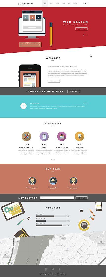 Template 55252 - It Consultant  Responsive WordPress  Theme