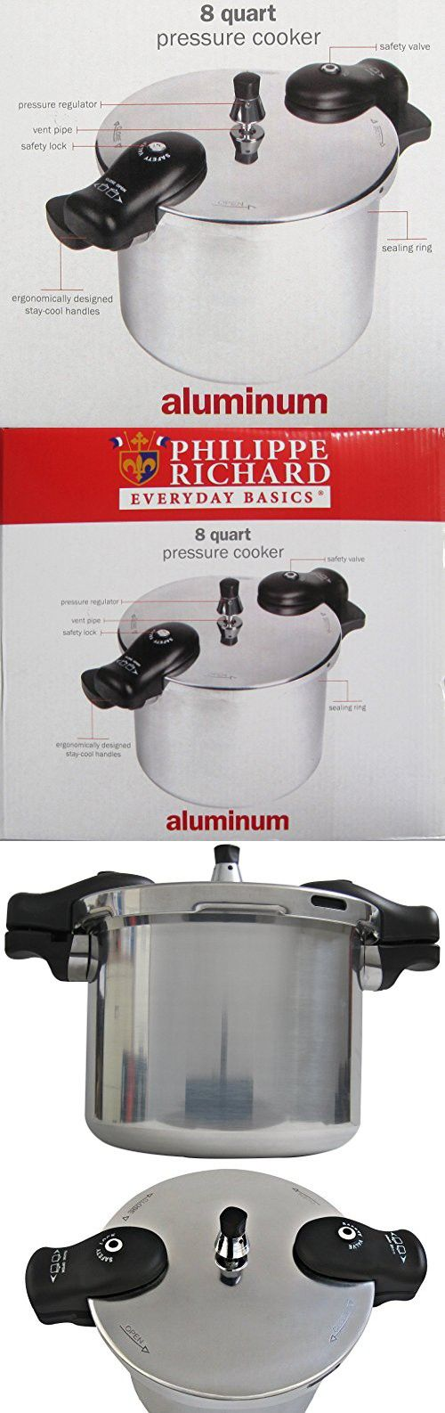 Buy fagor duo 8 quart pressure cooker from bed bath amp beyond - Philippe Richard 8 Quart Pressure Cooker Aluminum The Easy Healthy Aromatic And Versatile Resort