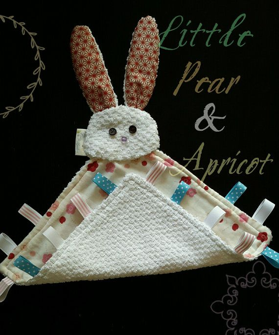Bunnybaby taggie wash towelsecurity by LittlePearandApricot