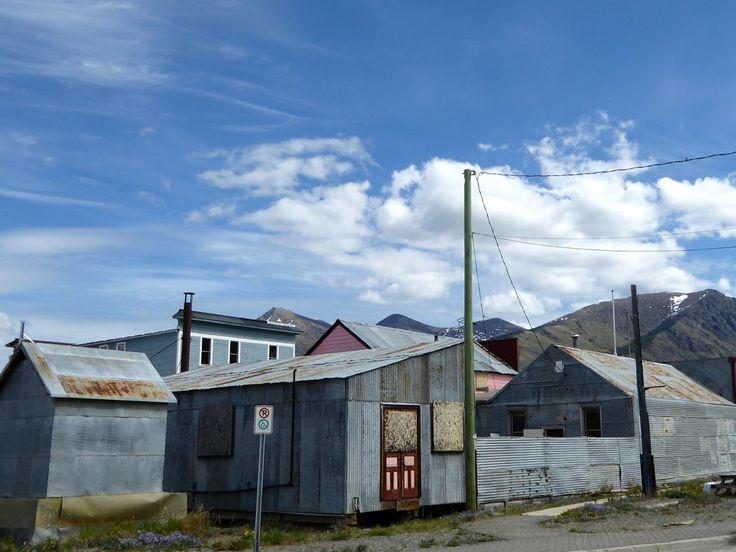 Galvanized buildings in Carcross, Yukon.