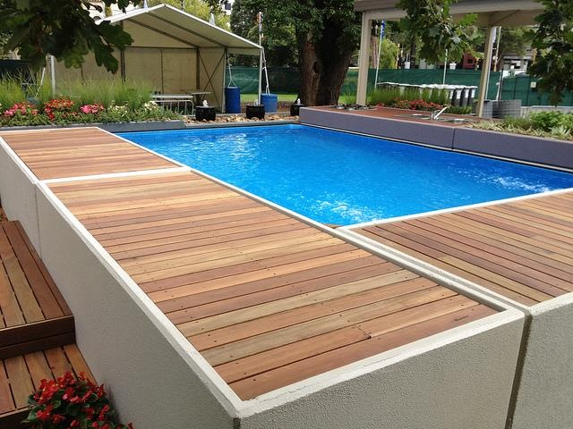 35 best pool decking design images on pinterest above for Best looking above ground pools