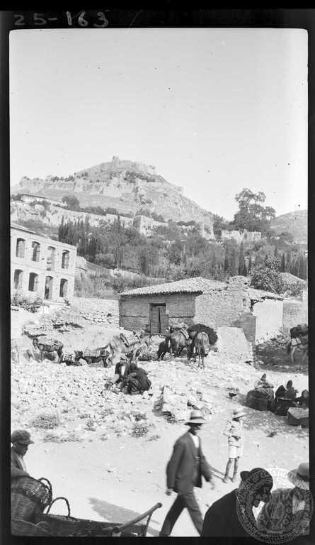 Naupaktos. Market and fort. 1925; Dorothy Burr Thompson.