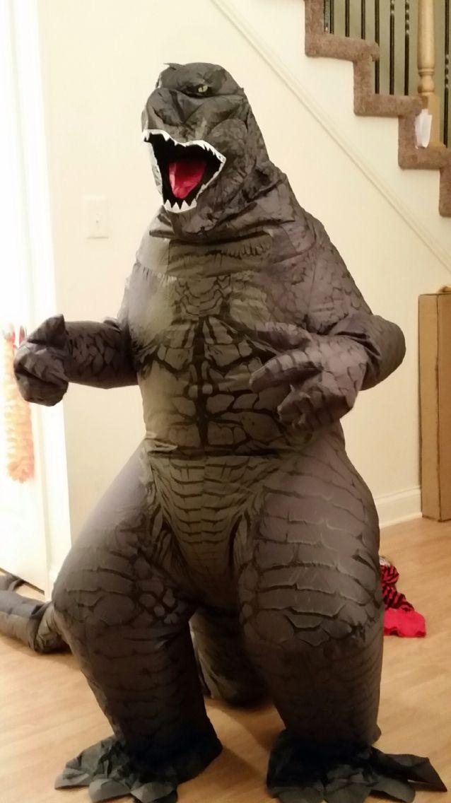 inflatable godzilla costume be ing someone else pinterest