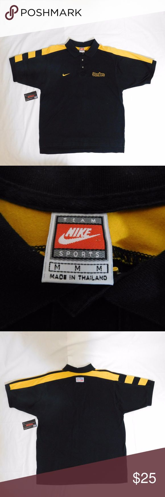 ⚫️ VTG 🏈 Nike Steelers Polo MEDIUM USED Vintage Nike Team Sports NFL Pro Line Pittsburgh Steelers Black Gold Polo Rugby Shirt | MENS size Medium | good condition, very minor fading  For Discounts Follow Me on Instagram @407vintage !  KEYWORDS/TAGS: ultra boost , Tommy Hilfiger , Polo Sport , Nautica , NMD , supreme , kith , bred , adidas , banned , french blue , stussy , Maestro , vintage , kaws , solefly , trophy room , box logo , gamma blue , retro jordan , steal , foams , foamposite…
