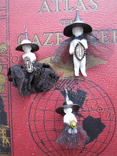 Baby Vintage Witch Pendants- a wee bit of shameless self promotion! available on Etsy