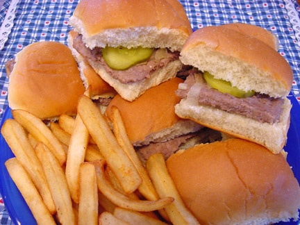 White Castle Hamburgers – perfect for a late night snack.